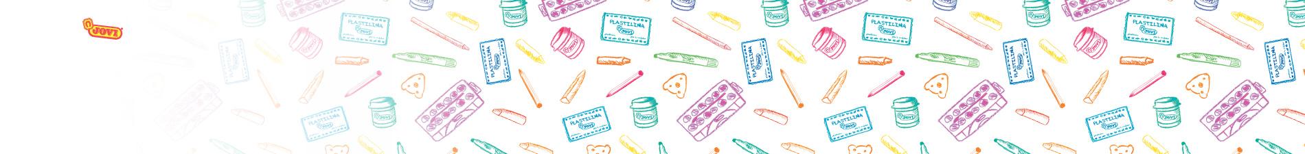 JOVI tuotteita piirroksina ja logo