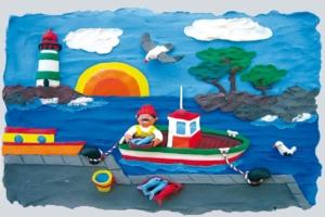 JOVI Plastilina muovailuvaha - kalastajamaisema